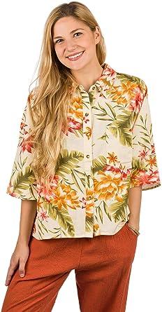 BILLABONG™ - Camisa Holgada con Botones - Mujer - S - Multicolor: Amazon.es: Ropa y accesorios