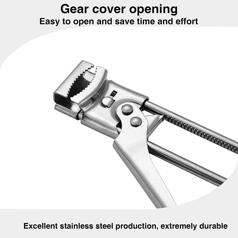 Adjustable Multifunctional Stainless Steel Can Opener Jar Lid Gripper Good Grip