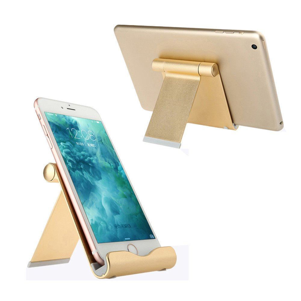 Insaneness☞☞☞ Adjustable Aluminum Alloy Holder Stand Dock for iPad Pro 12.9/9.7inch Tablet GDfor iPhone X/XS/XS MAX,iPhone 7/7Plus/8/8 Plus, Samsung Galaxy S9 /S9+ /S8 /S8+/ S7/Note 8/Note9 by SHUDAGE (Image #2)