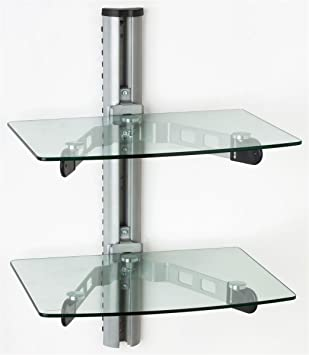displays2go dwms60shcl wall mount glass shelves tempered glass component displays with metal mounting bracket