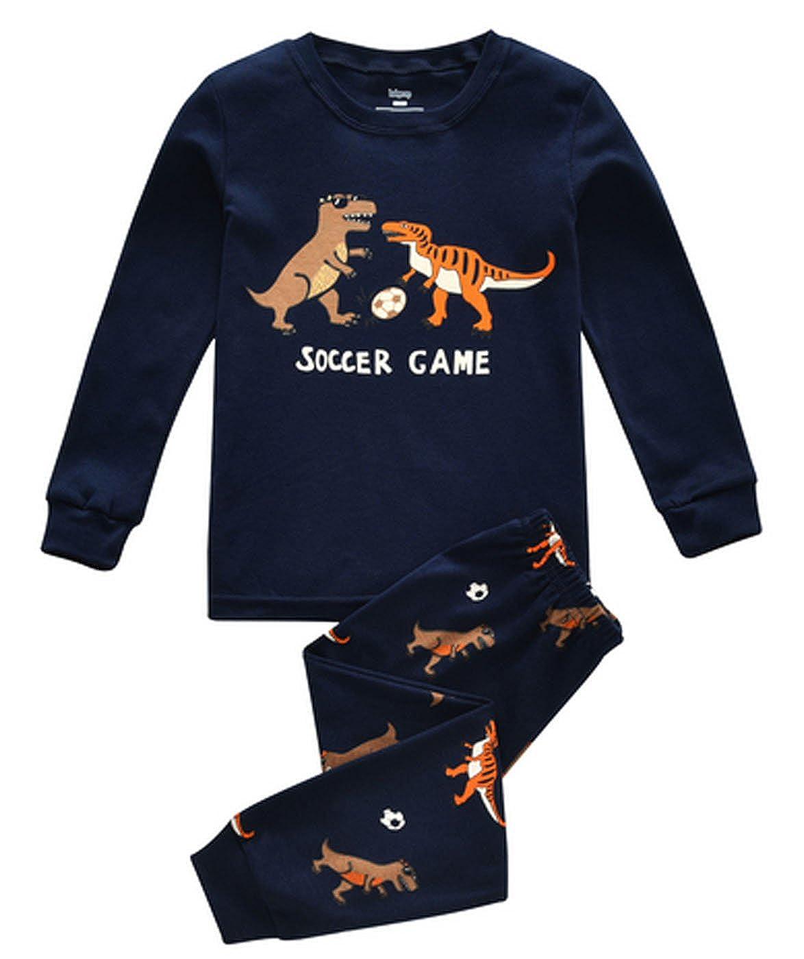 Kevins Mart 68 Dinosaur Little Boys Long Sleeve Pajama Sets 100/% Cotton Kids Pjs