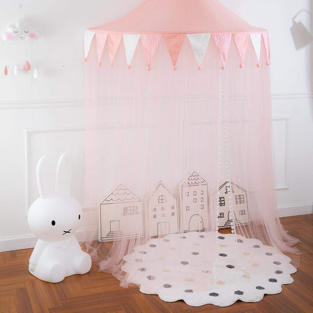 Owlhouse Kids Nets Canopy Tents, Princess Girl's Bed Awning, Indoor Boy's Half-Moon Game Lodge, Reading Reading Corner Layout, Hanging Tent by Owlhouse (Image #4)