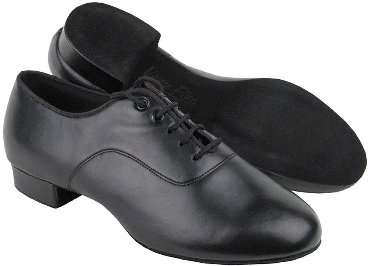 Very Fine Men's Salsa Ballroom Tango Latin Dance Shoes Style C2503 Bundle with Dance Shoe Wire Brush,Color Black, Size:9.5