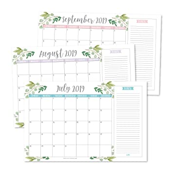 Amazon.com: Greenery 2019-2020 - Agenda mensual o de pared ...