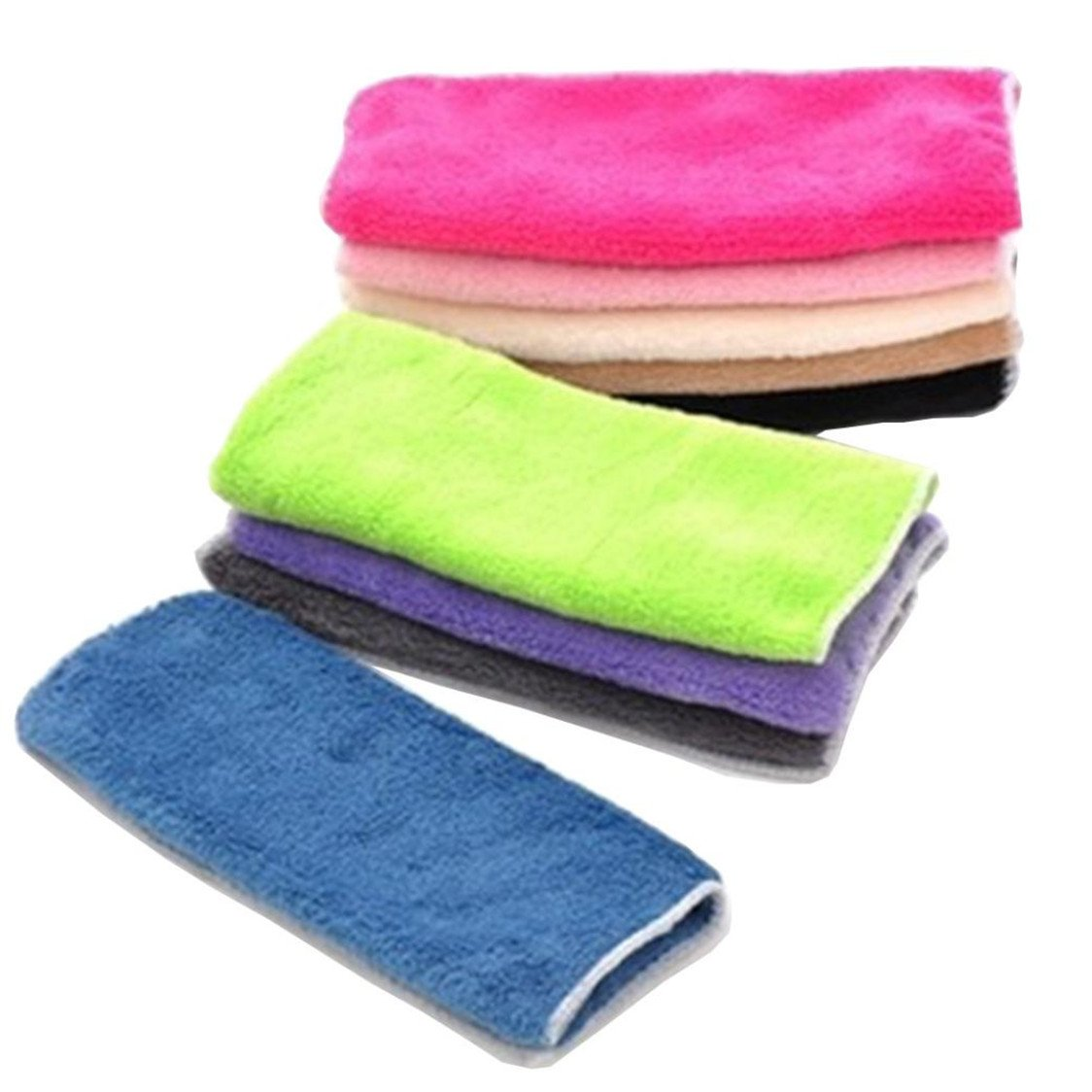 TIFENNY 1 PC High Efficient Anti-grease Color Dish Cloth Bamboo Fiber Washing Towel Magic Kitchen Cleaning Wiping Rags (random)