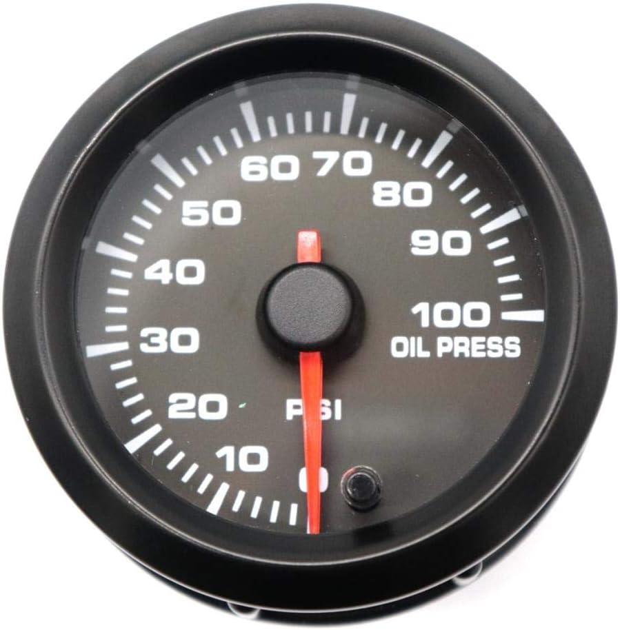 B Baosity 2jauge De Temp/érature Dhuile Num/érique Jauge De Pression Dhuile W//Capteur pour Voiture Automobile