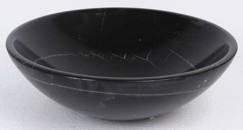 B0047 nw Vasque /à poser en pierre naturelle noir en marbre rond lavabo /évier salle de bains cercle 30cm de diam/ètre x 11cm de profondeur