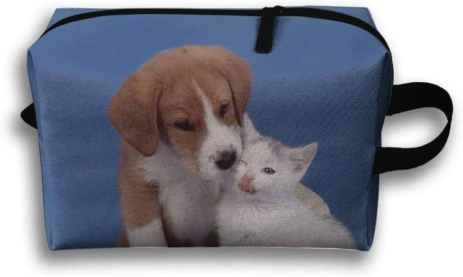monedas linda mascota gatos bolsa organizadora multifunci/ón cachorros Bolsa de viaje para art/ículos de aseo para perros cosm/éticos