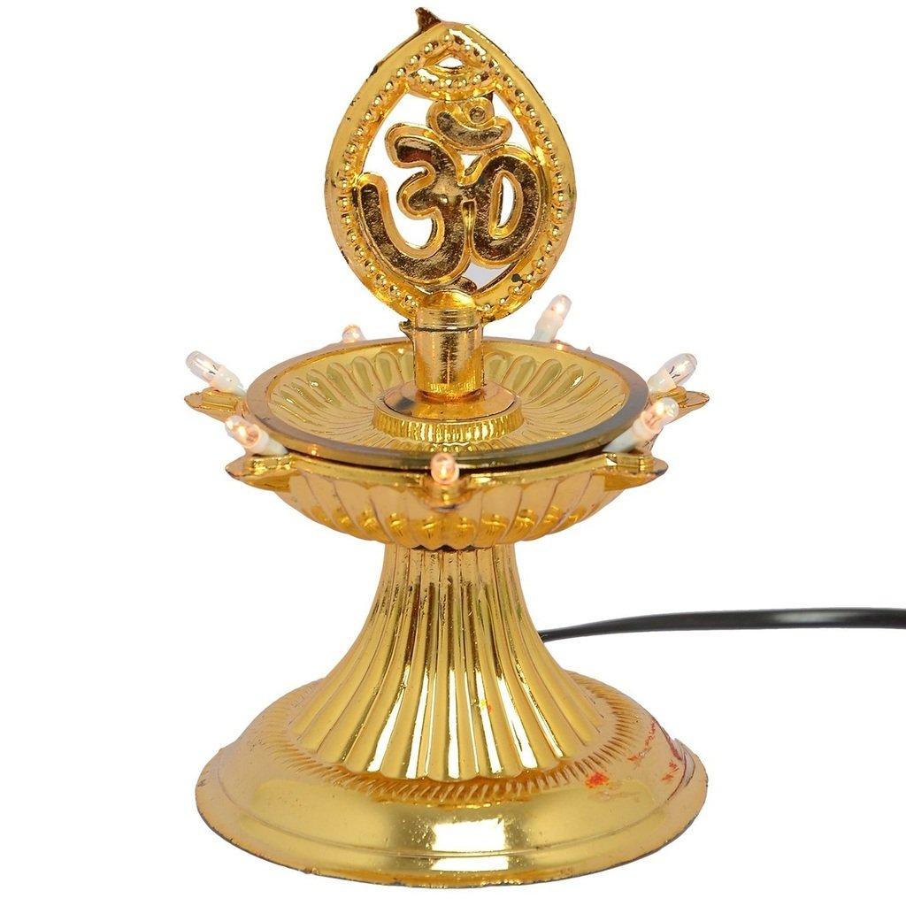 buy a to z traders 1 layer electric gold diya deepak light lamp