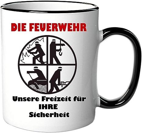 Tasse Feuerwehr Ideales Geschenk Geschenkidee Für Jeden Feuerwehrmann Amazon De Küche Haushalt