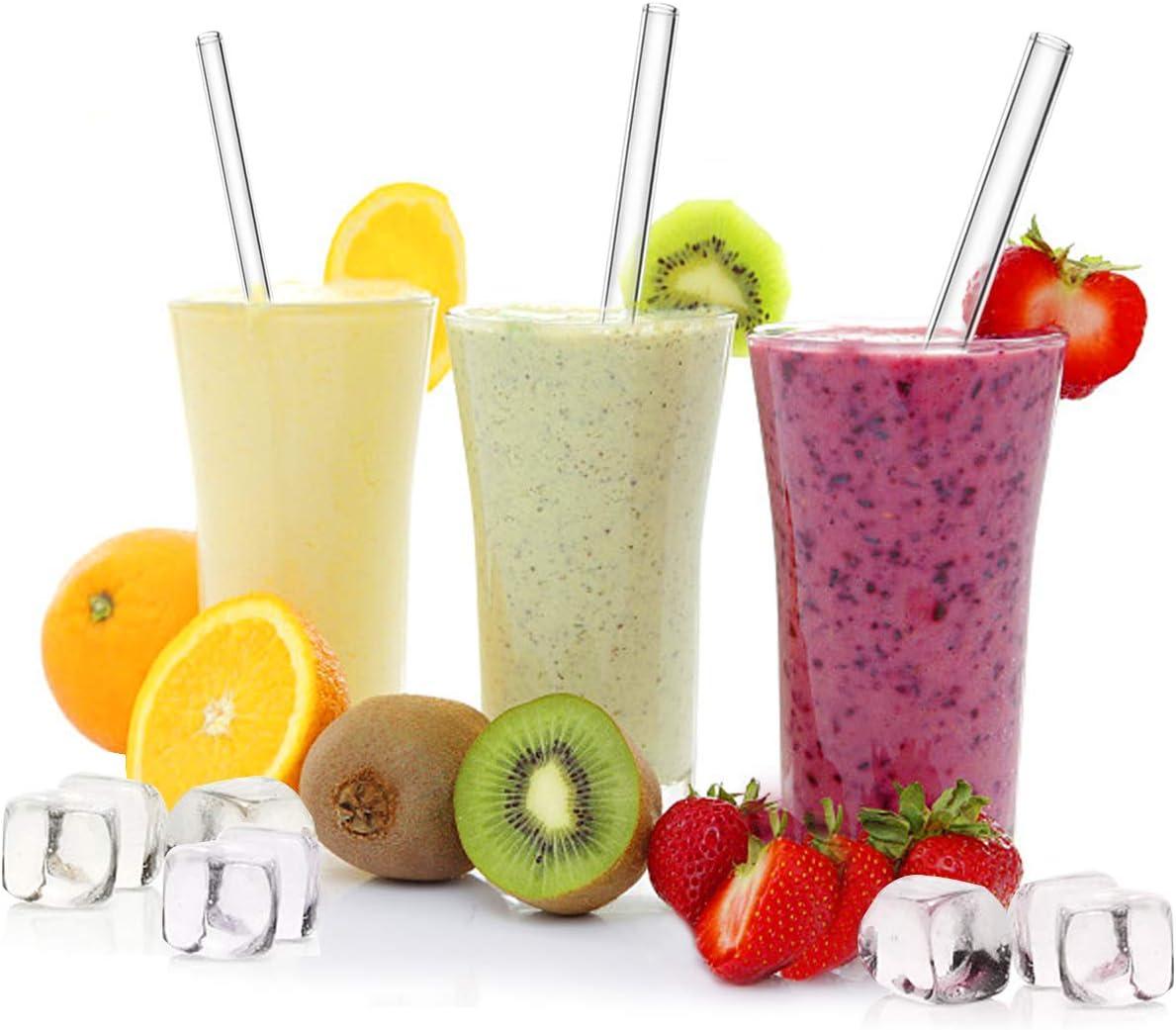 Environmentally Friendly Smoothies Milkshakes BPA-Free WOWDSGN Glass Drinking Straws,16 pcs Straw Set Bubble Tea Drinks Reusable Straw for Smoothie
