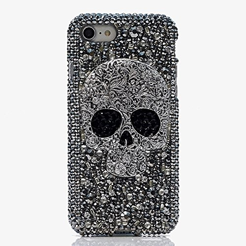 iPhone 8 Plus Bling Case, Diamond Bling Rhinestone Skull With Big Stone Eye Cover Fashion Phone Cases For iPhone 8 Plus