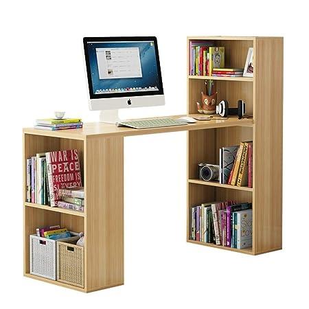 JiaQi En Forma De L Desk con Estantes,casa Tabla De La Computadora ...