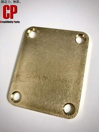 ブラス製 ネックジョイントプレート レリック 3.0mm ストラト・テレキャス等に 新品 真鍮 C3604 CB-NP3