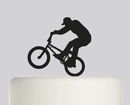Decoración para tarta de cumpleaños BMX Bike Happy Birthday acrílico para decoración de tarta de cumpleaños: Amazon.es: Hogar