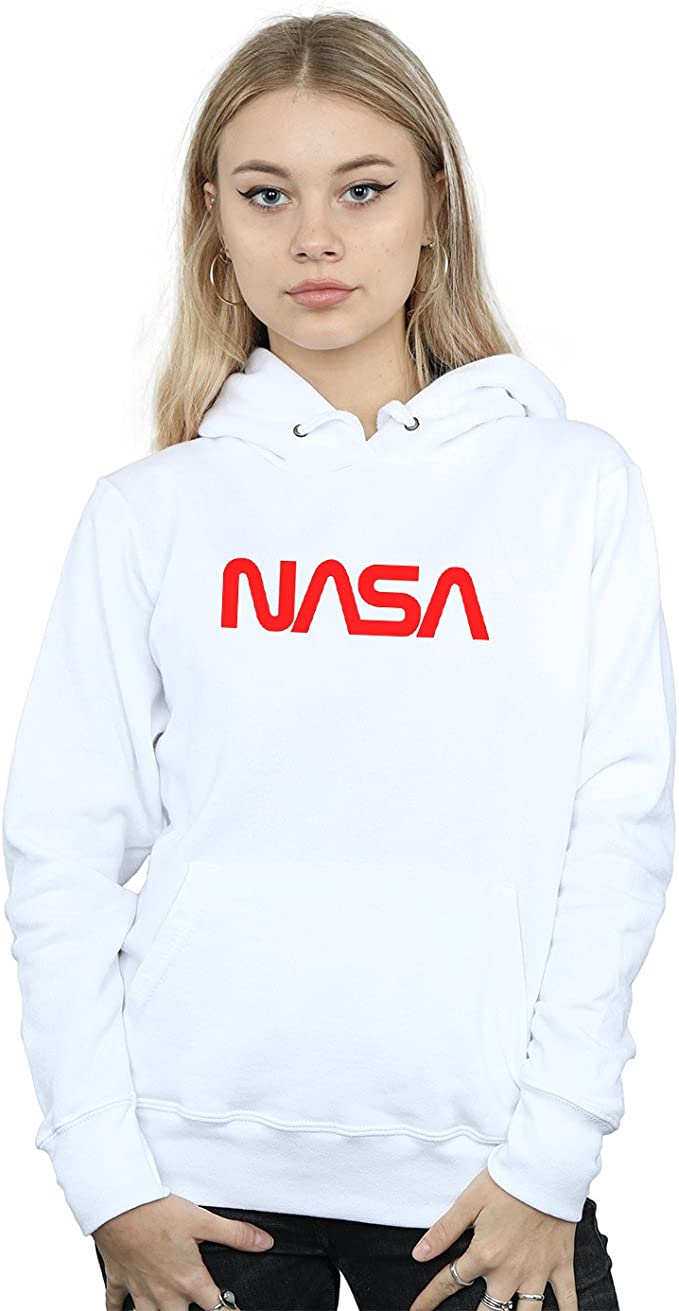 Absolute Cult NASA Femme Modern Logo Sweat À Capuche: Amazon