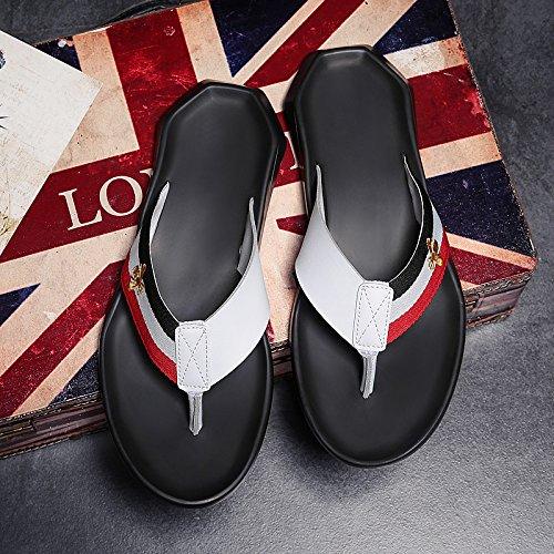 Xing homme d'été Lin et sandales de sandales Sandales Blanc 6qfBw6