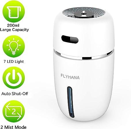 FLYHANA Cool Mist Humidifier 200ML, Mini Quiet Air