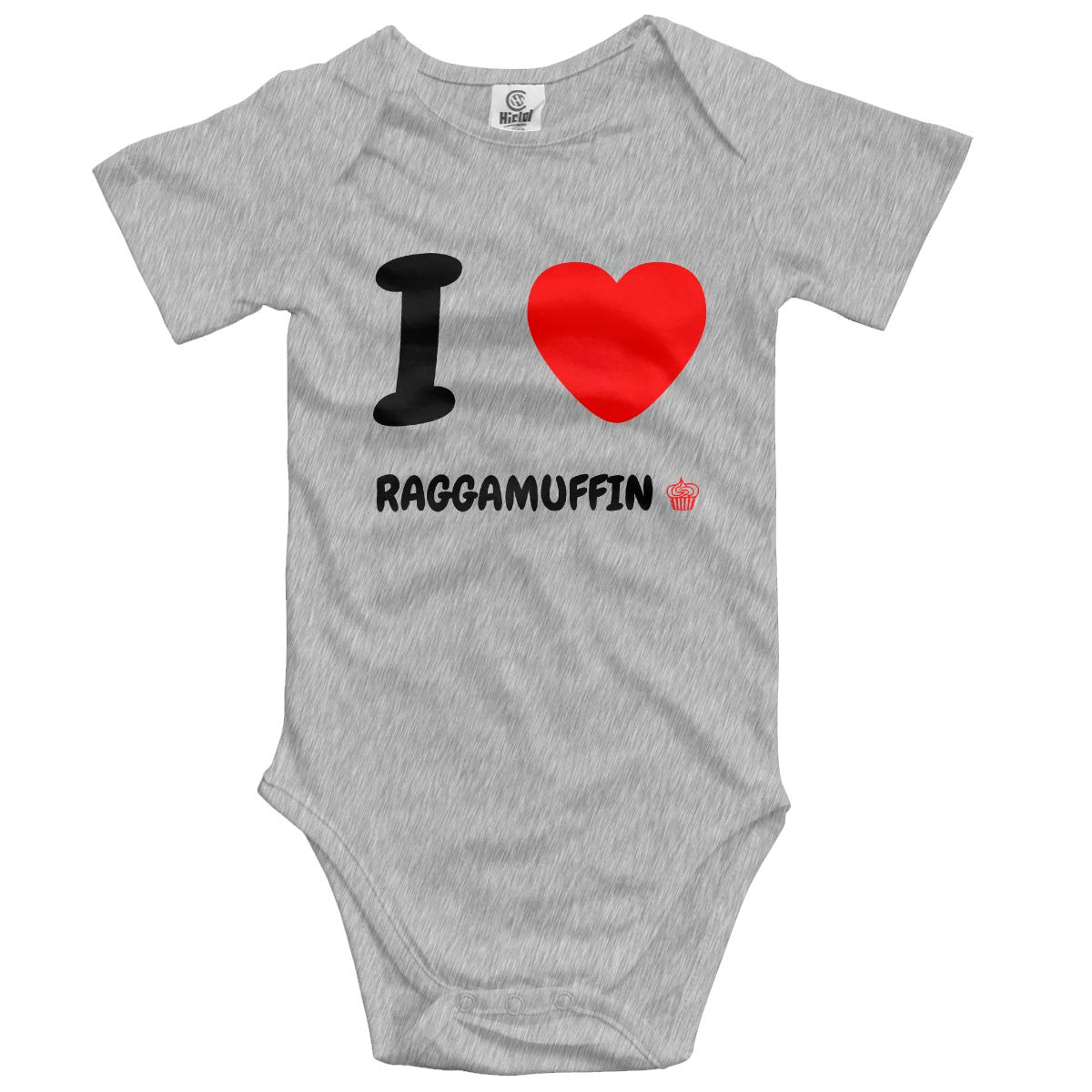 VANMASS Infant I Love Raggamuffin Short Sleeve Bodysuit Playsuits