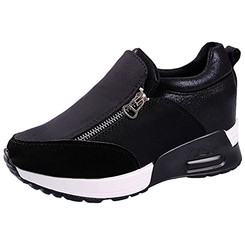 bf307df5bd6c Mauea Basket Basses Air Plateforme Compensée Sports Running Femme Sneakers  Chaussures de Coussin d air