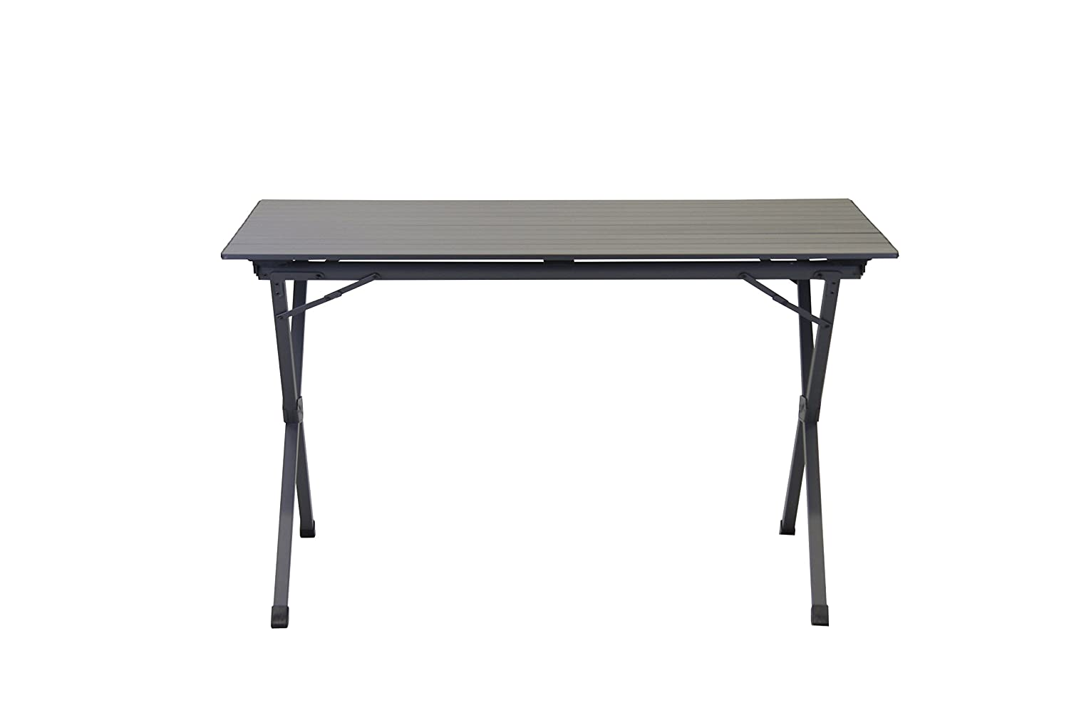 Seats up to 6 People Portal Outdoor Hawaii Slatted Lightweight Aluminium Portable Camping Table in Graphite Grey 30kg Maximum Load with Storage Bag
