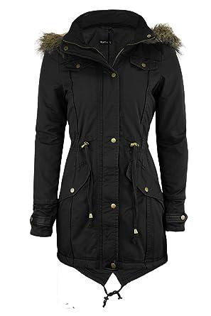 Cexi Couture Damen Jacke Schwalbenschwanz Parka Mit Kapuze Mantel Übergröße 36 50