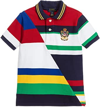 Ralph Lauren Boys Cotton Stripe Polo Shirt (Small 8)