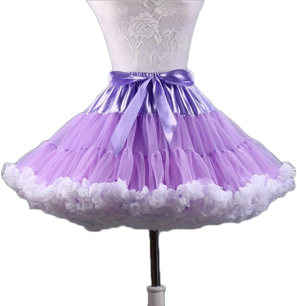 SoAyle Childrens Ballet Skirt Puff Party Dance Tulle Tutu Pettiskirts