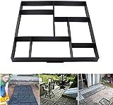 Concrete Mould 50 x 50 x 4.5cm 8 Grid Solid Brick Paving Mould Pathmate Path Maker Slab Mould for Garden Driveway Path Patio
