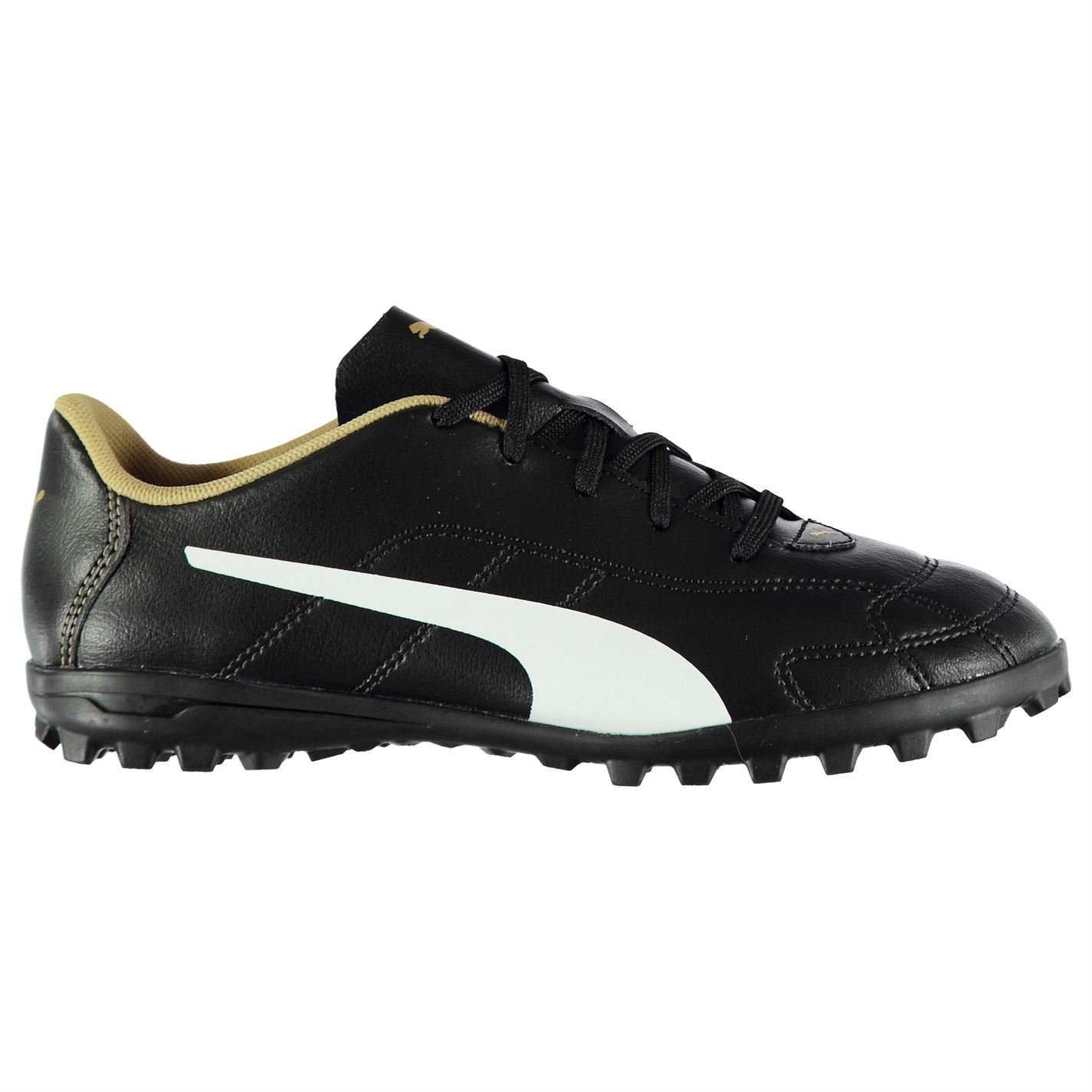 9ee2a25299c4 Puma Kids Classico Junior Astro Turf Trainers Football Boots Lace Up Padded  Black/White/Gold UK 5 (38): Amazon.co.uk: Clothing