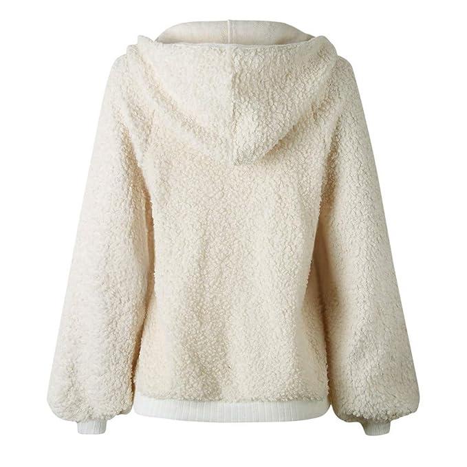 ❤ Abrigo con Capucha de Las Mujeres, Suave de Felpa Manga Larga Cremallera Pullover Blusa Camisas Escudo Sudadera Absolute: Amazon.es: Ropa y accesorios