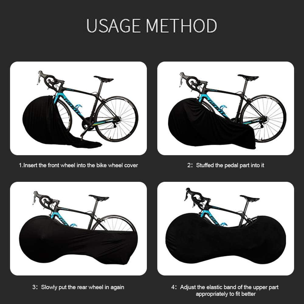 VISLONE Funda para rueda de bicicleta antiara/ñazos a prueba de polvo paquete de neum/áticos bolsa de almacenamiento para interior de bicicleta lavable y el/ástica