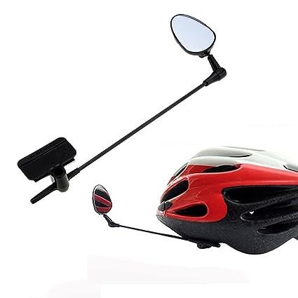 Bike Bicycle Helmet Mount Rearview Mirror 360 Degree Adjustable Riding Rear View
