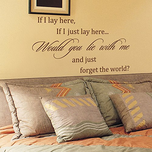 if i lay here wall decal - 8