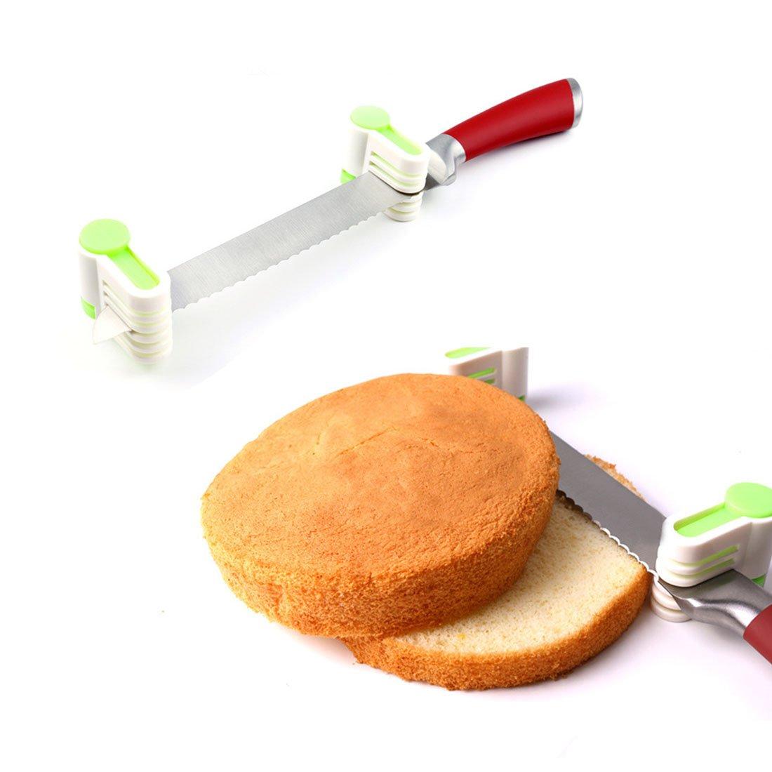 Joylive 2Pcs Bread Cutter Slicer Plastic Cake Baking Kitchen Tools - Random Color