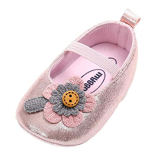4d602c098f6fa Amazon.com: NUWFOR Baby Girl Leather Flower Shoes Keep Warm Fashion ...