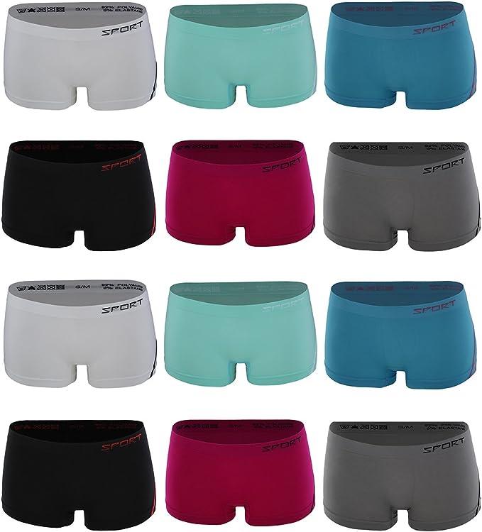 Greenice 9-12 Pack Transpirable Braguitas para Mujer, Ropa Interior Mujer Shorts 2323 (M, Pack de 12): Amazon.es: Ropa y accesorios