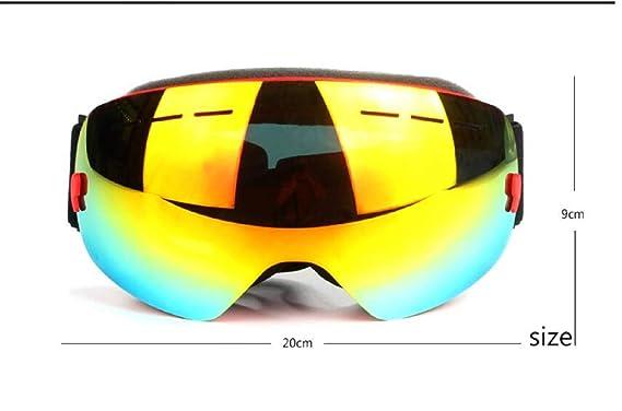 JINGJING Gafas de esquí sin Bordes Doble Anti-Niebla esquí ...