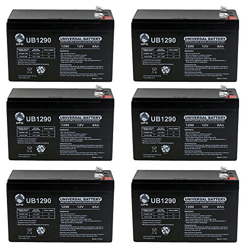 12V 9Ah SLA Battery for Speedway 52036 7 in 1 Power - 6 Pack by Universal Power Group