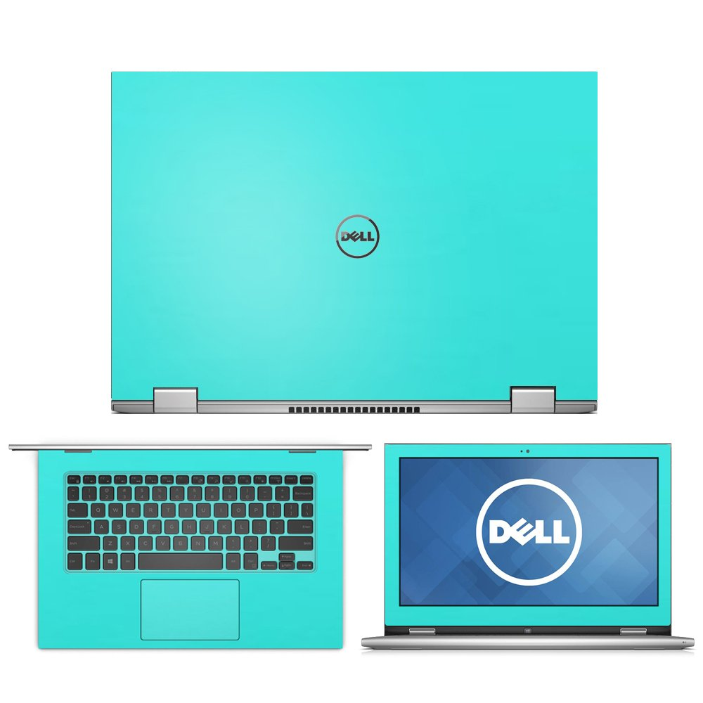 """Mint Green skin decal Skin wrap skin Case for Dell Inspiron 13 7000 series 2 in 1 7347 7348 7353 13.3"""" laptop"""