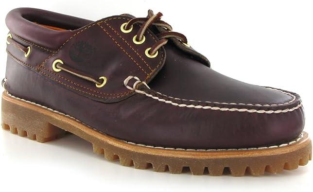 escribir una carta Molestia Recomendado  Timberland Authentics FTM _ 3 Eye Classic Lug 50009, Chaussures bateau pour  homme Rouge (Bordeaux Pull Up), l'UE 46 (US 12): Amazon.fr: Chaussures et  Sacs