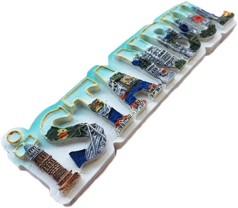 con im/án para Nevera de Espa/ña dise/ño de Camello con Texto en 3D de Fuerteventura Espa/ña MUYU Magnet Adhesivo de Viaje para Nevera Ideal para decoraci/ón de hogar y Cocina