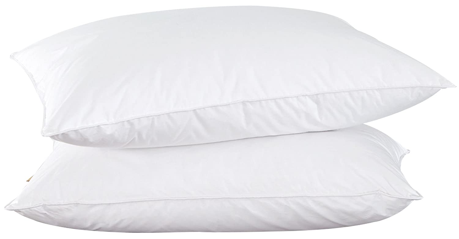 puredown oose Feather Inserts for Sleeping White Set of 2 Down Down Bed Pillow Standard PD-16031-S/Q