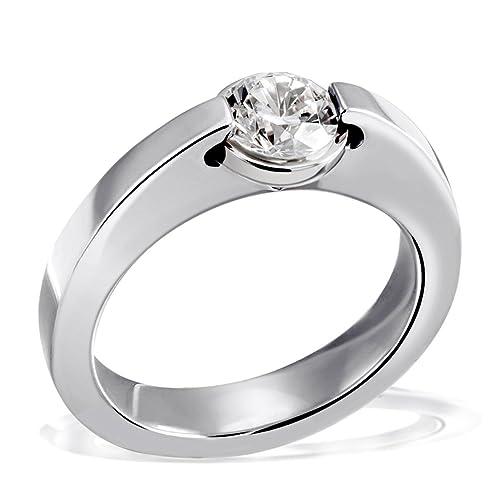 Goldmaid Damen-Ring Solitärring 925 Silber mit einem weißen Zirkonia