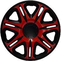 """Radkappen Radzierblenden Radabdeckungen 14"""" Zoll #165 RED-BLACK ROT SCHWARZ"""