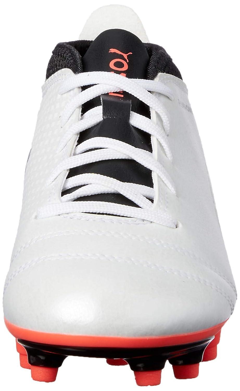 PUMA One 17.4 FG Firm Ground Kids Soccer Boot Shoe White