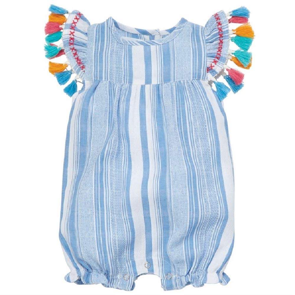 Mud Pie Baby Girl's Tassel Bubble (Infant) Blue 12-18 Months (Infant) by Mud Pie