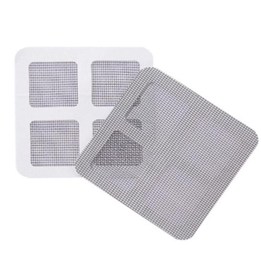Inverlee 3pcs Anti Insect Fly Door Window Mosquito Screen Net Repair Tape Patch Adhesive (Black, 3PC)