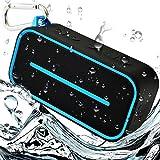 Ultra-Portable Bluetooth Wireless Speaker Waterproof - Lightweight, Shower Safe for Indoor, Outdoor - Super Loud Bass - Maximum Power 10 Hour Playback -  Microphone for Hands-Free Calls by BoneSound