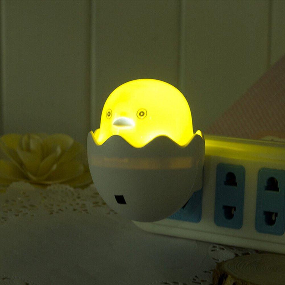 LEDMOMO Little Chick Plug In Night Light with Auto Sensor for Kids Bedroom Nursery Baby Room Bathroom or Hallway (US Plug)   B0719KC3RY
